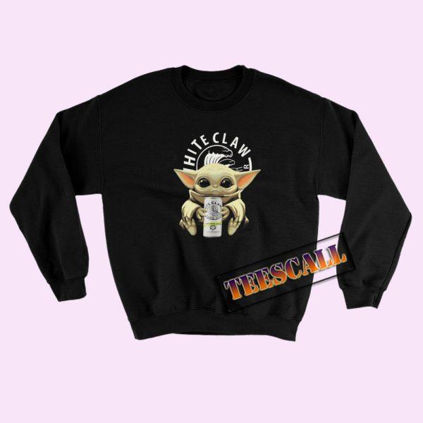 Sweatshirts Baby Yoda White Claw