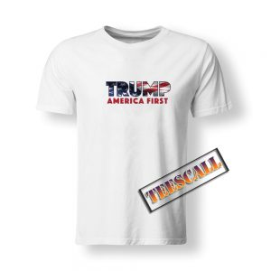 America First Trump Flag Logo T-Shirt S-3XL